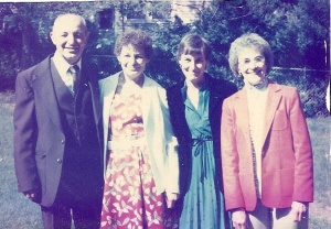 Raymond, his daughters Irene & Connie, his wife Jeannette