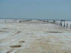 Road on the salt plains
