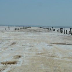 Road on the salt plains