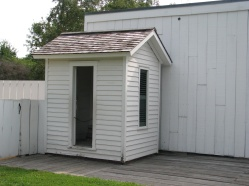 Lincoln's outhouse.