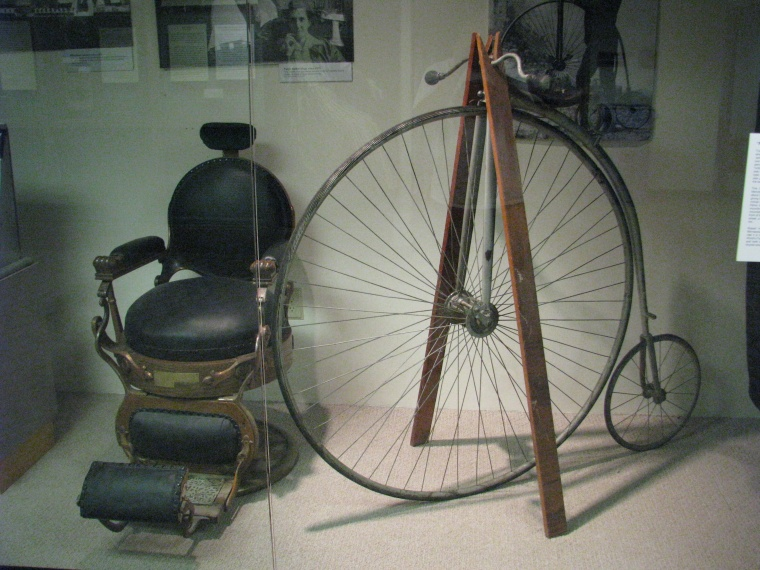 "A ""penny-farthing"" bicycle from 1883"