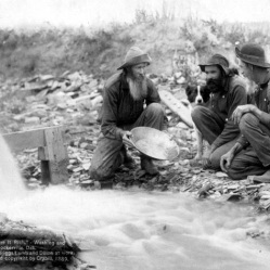 """Panning"" for gold."
