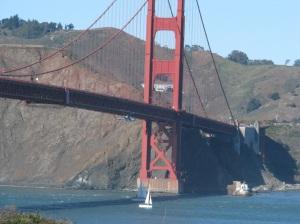 Assault chopper flying under the bridge